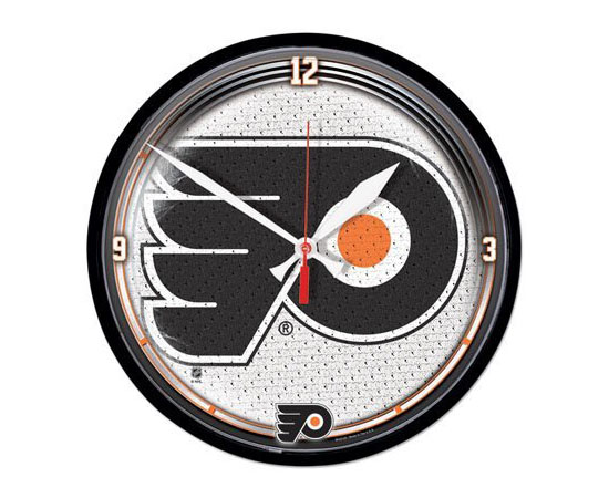 Philadelphia Flyers Wall Clock - Hockey Themed Bedroom Decor
