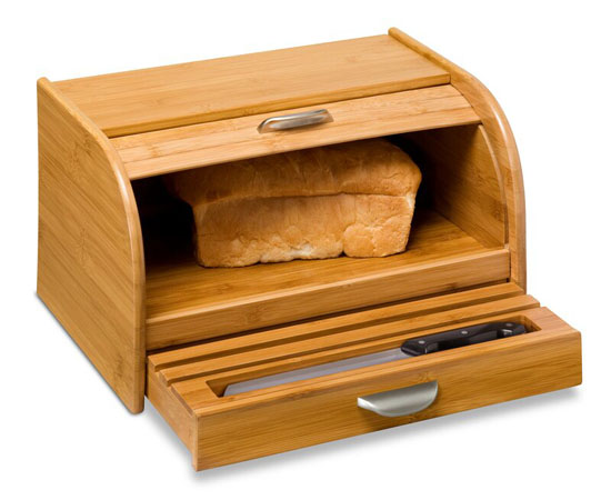Anti Microbacterial Honey-Can-Do Bread Box Keeps Your Bread Loaf Fresh Longer