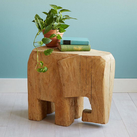 Horton Elephant Shaped Side Table