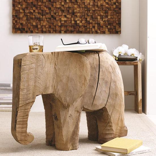 Horton Elephant Shaped Side Table