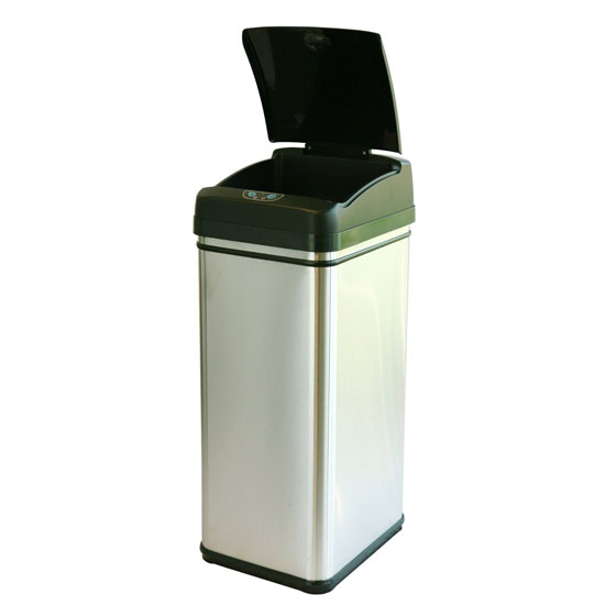iTouchless Deodorizer Touch-Free Sensor Automatic Trashcan
