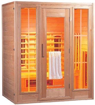 comfortable infrared sauna