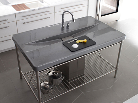 Iron Island Sink