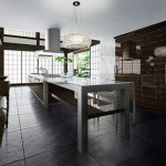 Sleek Range Isola Positano Kitchen from Toyo Kitchen