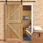 Kimberly Bay Barn Door is Made of Solid Pine Wood and Ready to Be Painted