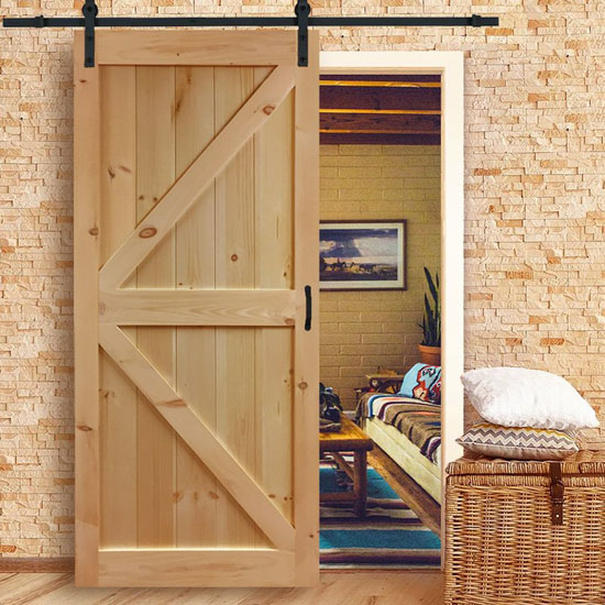 Kimberly Bay Solid Wood Flush Interior Barn Door