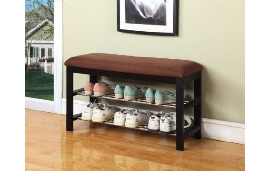 Kings Brand Micro Fabric Shoe Rack Organizer And Bench