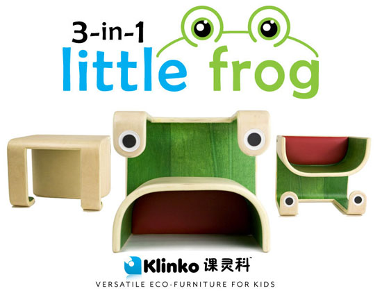 Klinko Kids 3-in-1 Little Frog