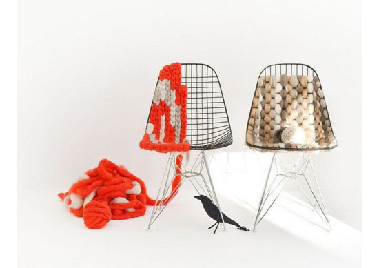 Knitted Eames Wire Chair