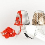 The Knitted Eames Wire Chair Is A Popular Chair Made Out Of Bent Wire