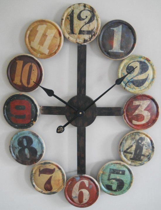 Large metal contemporary wall clock helps you create your for Home decoration things