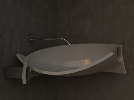 Lavabo elegant lavatory design by andrea andretta modern home decor for Lavabo design
