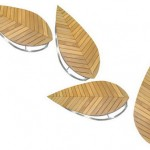 Feel The Nature with Leaf Shaped Outdoor Benches
