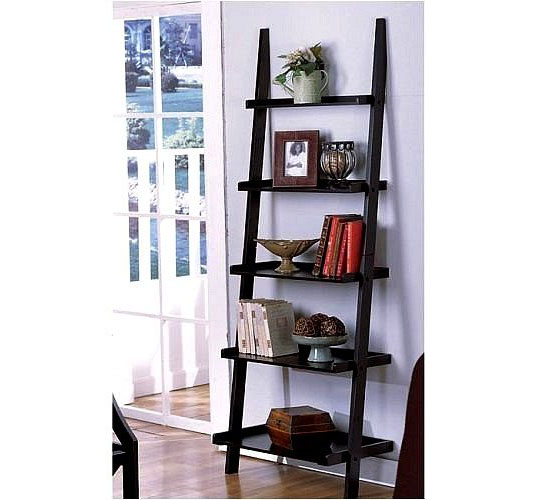 Leaning Ladder Style Magazine And Bookshelf By The Décor Collection