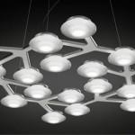 LED Net: Stylish Snowflake-like Suspended Lamp