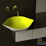 Lemon Sink with Bright Yellow Color from Cenk Kara