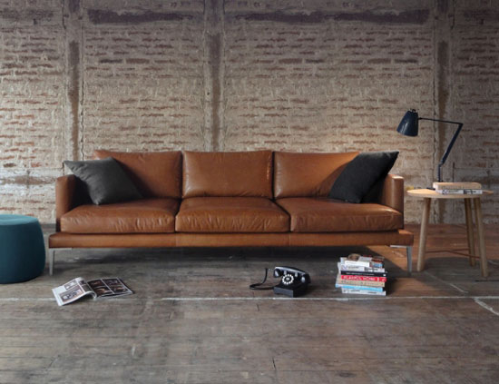 Delightful Lennon Leather Sofa Lounge