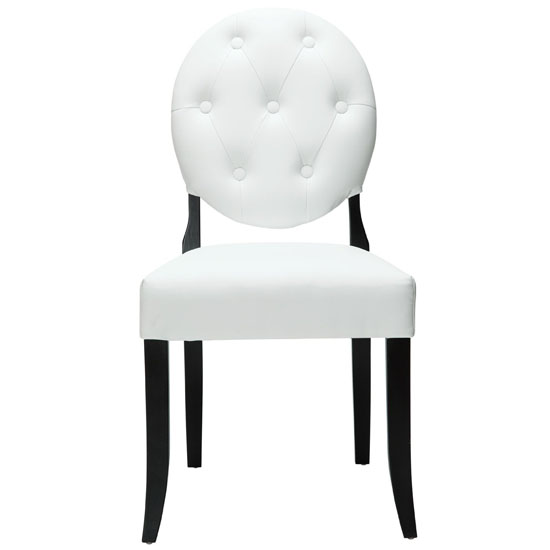 LexMod Buttoned Ghost Chair