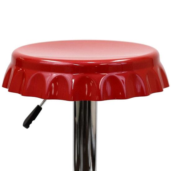 LexMod Soda Bottle Bar Stool in Red