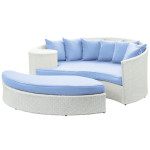 Resort Living Is Easy With LexMod Taiji Outdoor Rattan Daybed With Ottoman