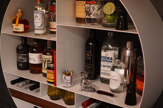 Libation Station Round Home Bar Storage Solution From Sean Woolsey