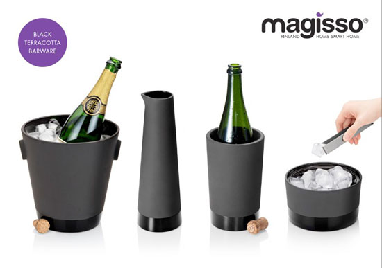 Magisso Black Terracotta Barware