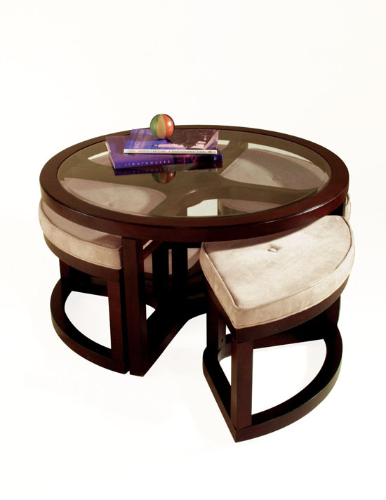 Magnussen Juniper Wood Round Cocktail Table