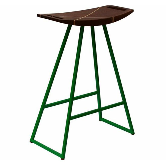 Maple Robert Stool with Walnut Inlay by Tronk Design