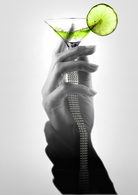 temptation martini glass design