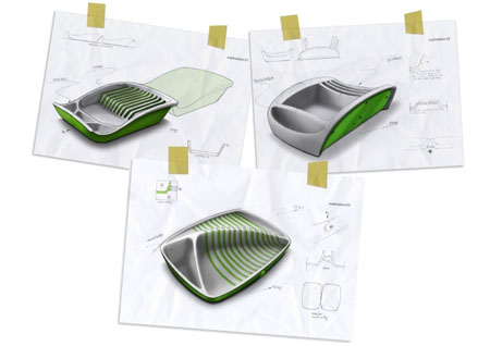 Matias conti dish dryer a clean and stylish tool for your for Modern cleaning concept