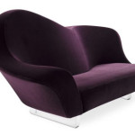 Aubergine Lavender Colored Sofa from MDF Italia