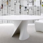 Modern MDF Italia Table with Twisted S-Shaped Stand