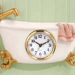Create A Themed Home Décor With Miles Kimball Claw Foot Style Bathtub Clock
