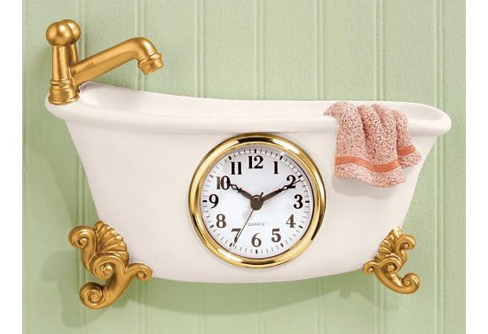 Miles Kimball Claw Foot Style Bathtub Clock