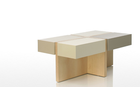 mod quad coffee table