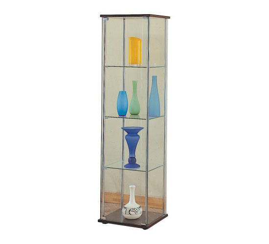 Modern Contemporary Glass Curio Cabinet