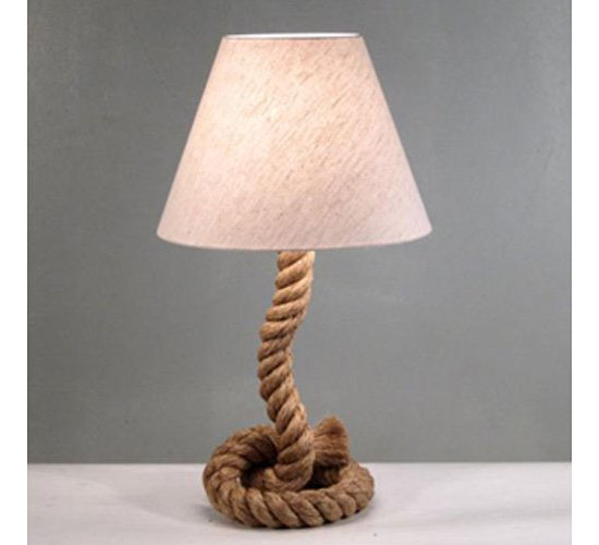 Modern Home Nautical Pier Rope Table Lamp