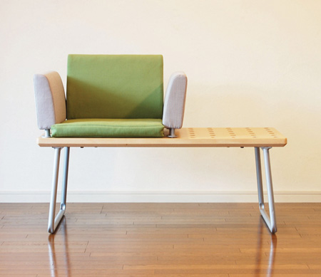modular bench by shizuka tatsuno