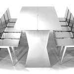 Monolith Dining Table Sculpture by Gioia Design