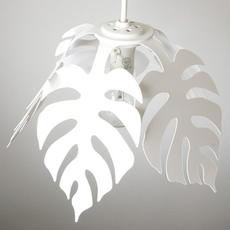 monstera leaf pendant lamp