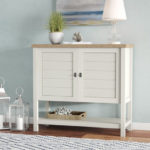 White Myrasol 2-Door Accent Cabinet Adds a Coastal Touch to Any Room