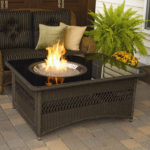 Naples Coffee Table with Fire Pit Offers Clean Burning Fire with 60,000 BTU Output