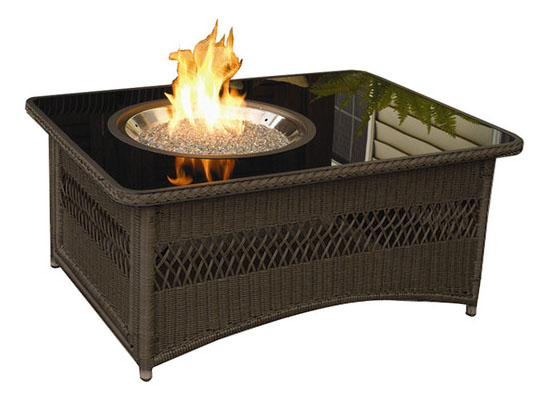 Naples Coffee Table With Fire Pit Offers Clean Burning Fire With 60 000 Btu Output Modern Home
