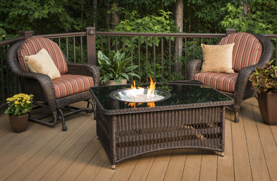 Naples Coffee Table with Fire Pit by The Outdoor GreatRoom Company