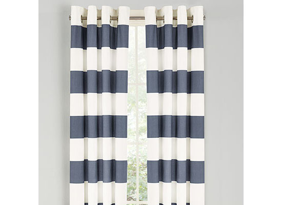 Nautica Cabana Stripe Cadet Window Drapes