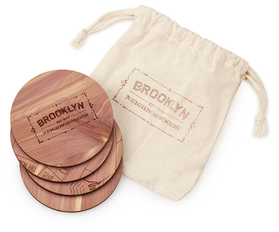 Neighborwoods Map Coasters by Aymie Spitzer