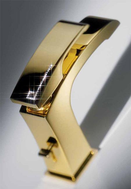 newform swarovski gold faucet x sense