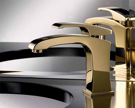 newform swarovski gold faucet x sense. X Sense Gold Bathroom Faucet with Swarovski Crystal Limited