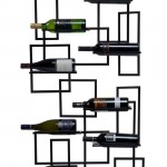 Make Wine A Part Of Your Interior Design With The Oenophilia Mid-Century Wall-Mount Wine Rack