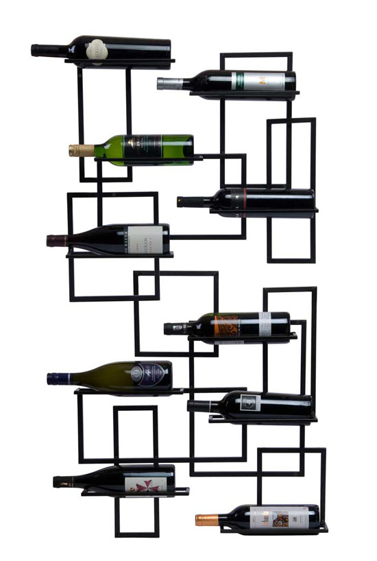 Oenophilia Mid-Century Wall-Mount Wine Rack